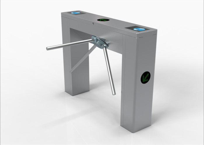 Unique Mechanical Stainless Steel Tripod Turnstile Gate For Hotel / Lobby