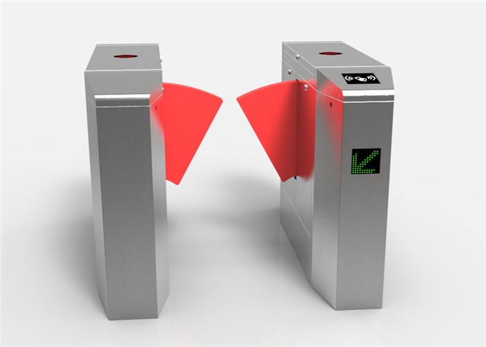 304 Stainless Steel Flap Barrier Gate , Synchronization Controlled Access Turnstiles