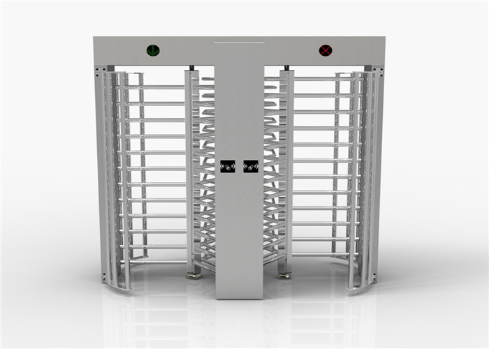 Entrance Control Security Full Height Turnstile Turn Style Door With Double Passage