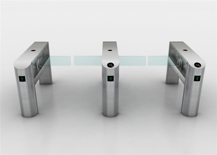 110V electronic 2 channel swing arm barrier , controlled access turnstiles for security check