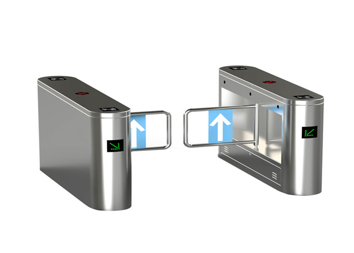 Waterproof entrance control stainless steel turnstiles WITH biometric system , 180 degree swing