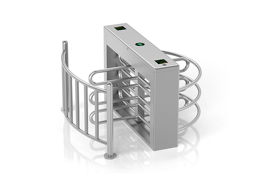 RFID Card Reader Half Height Turnstile Intelligent Passage Management Auto Lock