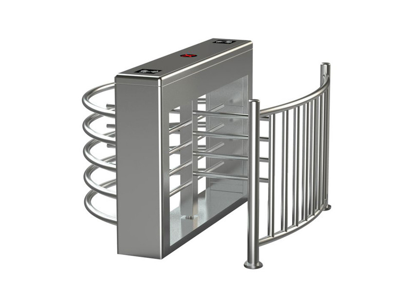 Waist Height Fingerprint Electronic Turnstile Entrance Gates 304 Housing Material