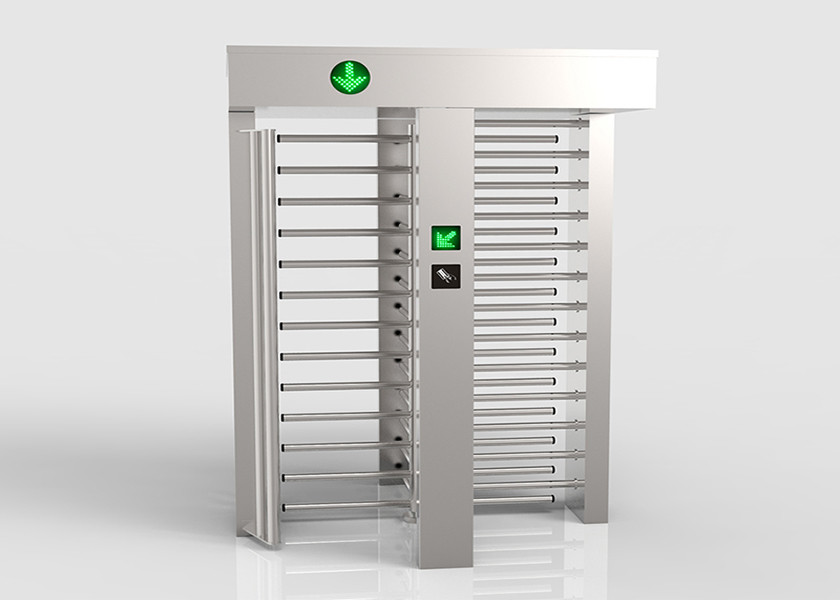 90 Degree Rotating Bi Directional Turnstile With Biometric Fingerprint Rfid Card Reader