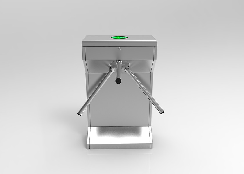 Drop Arm Tripod Turnstile Gate , Vertical Stand Up Waist Height Tripod Turnstile