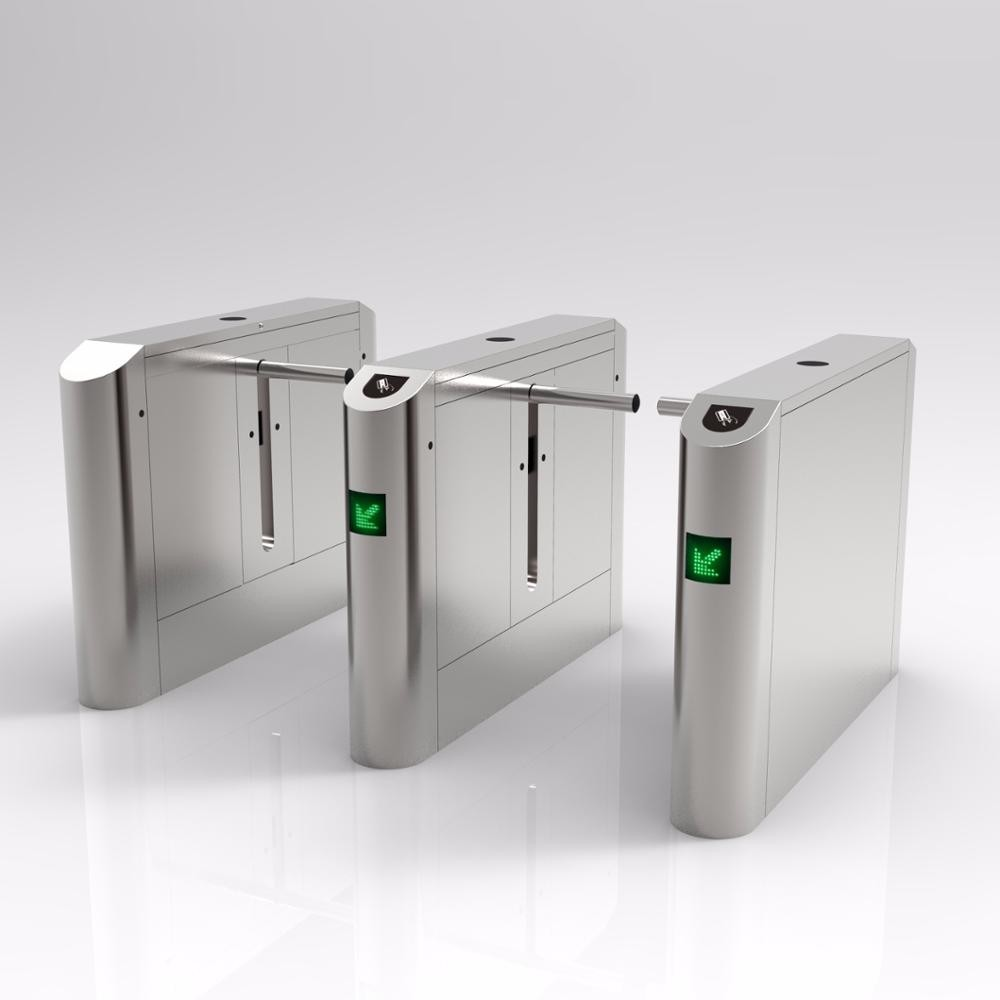Centre Single Arm Security Turnstile Gate Member Control Biometric Recognition