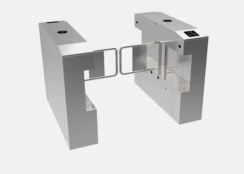 IP54 Pedestrian Swing Gate Single / Double Opening Biometric Device Control System
